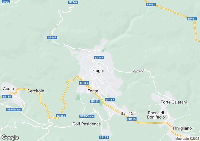 Map for Via Armando Diaz, Fiuggi, 03014, Italy
