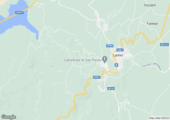 Map for Molise, Campobasso, Larino