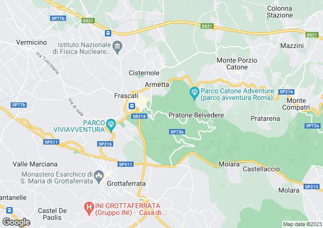 Map for Lazio, Rome, Frascati