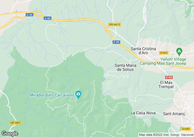 Map for Santa Cristina d`Aro, Girona