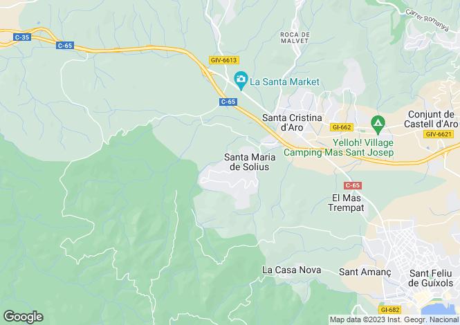 Map for Catalonia, Girona, Santa Cristina d`Aro