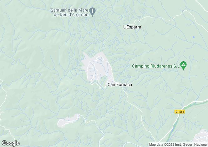 Map for Catalonia, Girona, Riudarenes