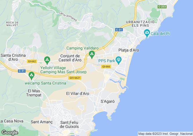 Map for Platja d`Aro, Girona