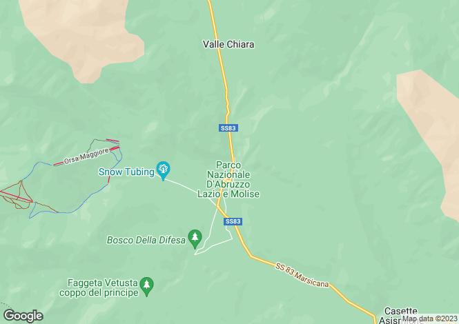 Map for Abruzzo, L`Aquila, Pescasseroli