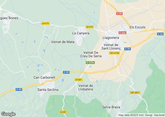 Map for Llagostera, Girona, Catalonia