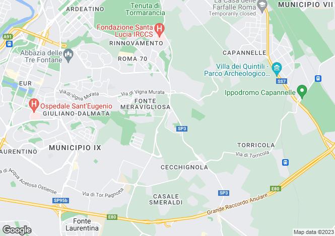 Map for Via Andrea Millevoi, Roma, 00100, Italy