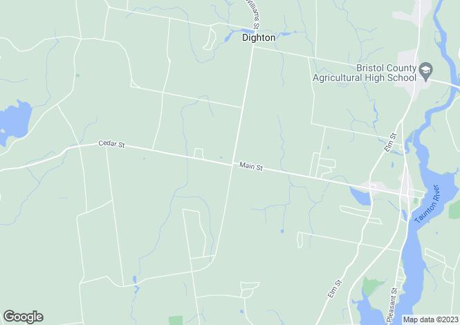 Map for USA - Massachusetts, Dighton