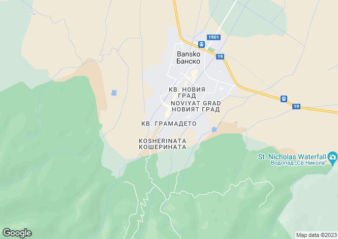Map for Bansko, Blagoevgrad, Bg