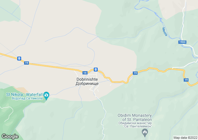 Map for Blagoevgrad, Dobrinishte