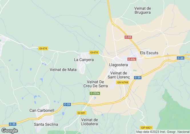 Map for Catalonia, Girona, Llagostera