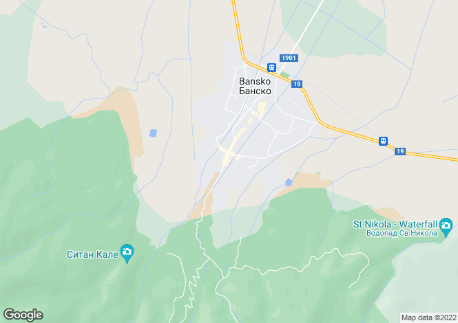 Map for Bansko, Blagoevgrad