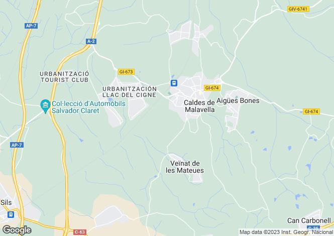 Map for Caldes de Malavella, Girona, ES