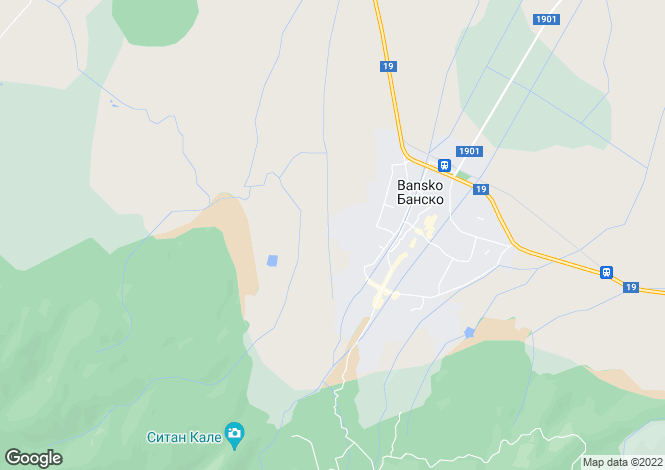 Map for Blagoevgrad, Bansko