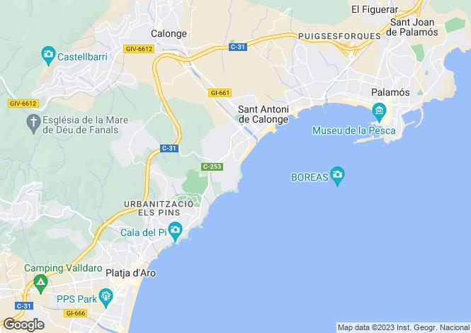 Map for Catalonia, Girona