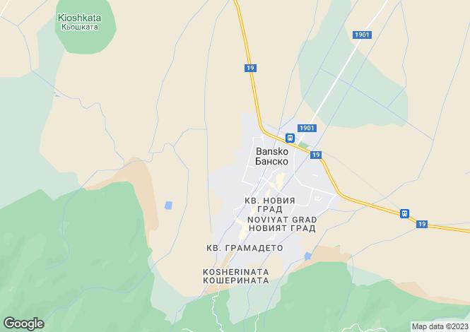 Map for Blagoevgrad, Bansko