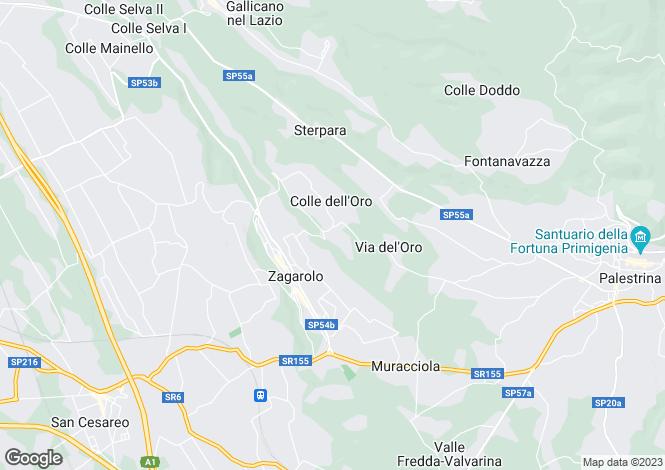 Map for Palestrina, Rome, Lazio