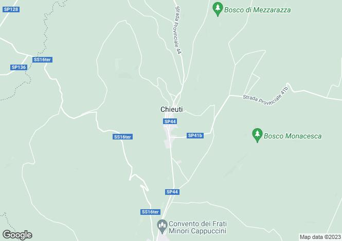 Map for Apulia, Foggia, Chieuti