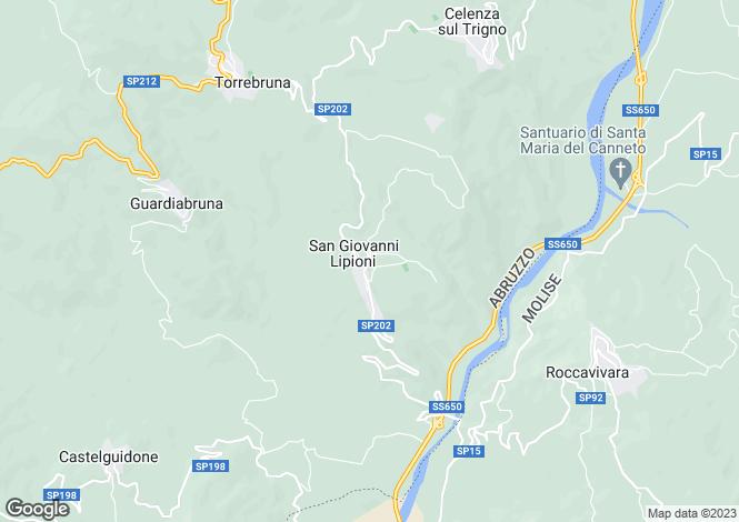 Map for Chieti, San Giovanni Lipioni, Abruzzo, CH66050