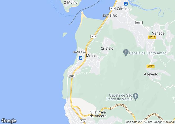 Map for Minho, Caminha