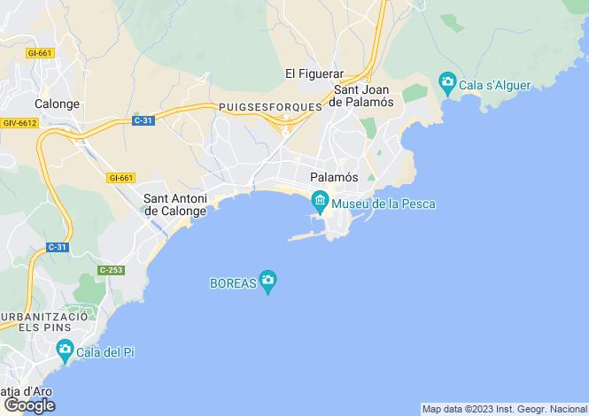 Map for Palamós, Girona