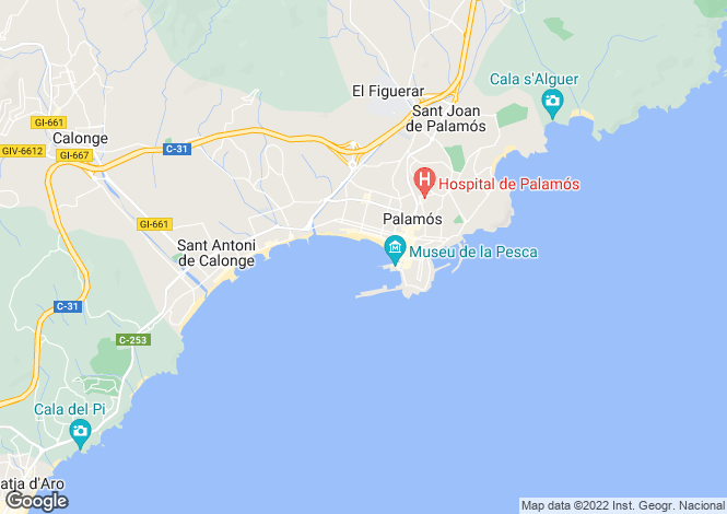 Map for Palamós, Girona, Catalonia