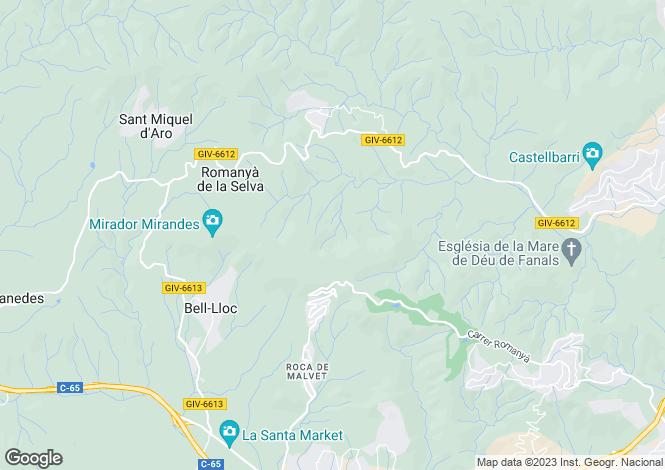 Map for Santa Cristina d`Aro, Girona, Catalonia