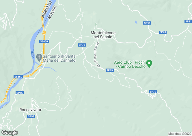 Map for Molise, Campobasso, Montefalcone