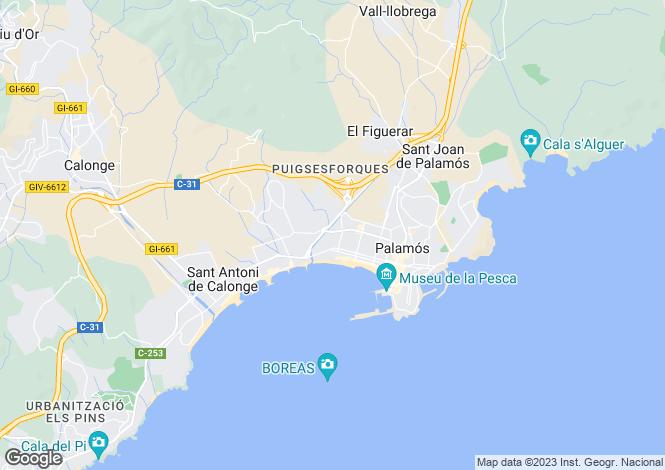 Map for Platja d'Aro, Catalonia, Spain