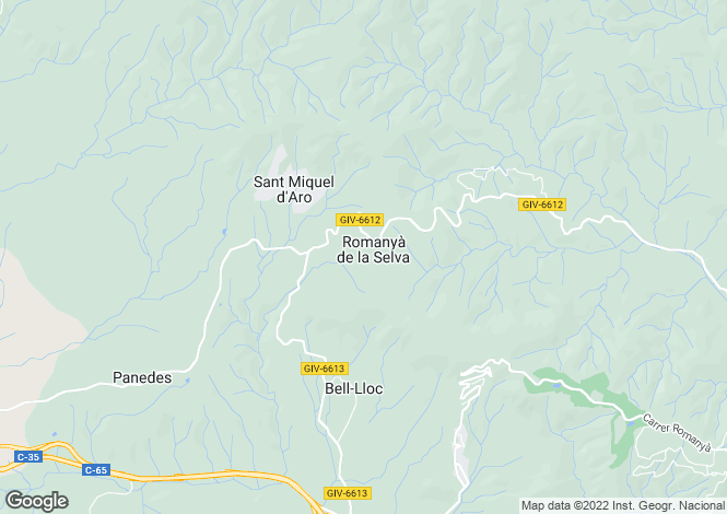 Map for Santa Cristina d`Aro, Girona, Catalonia