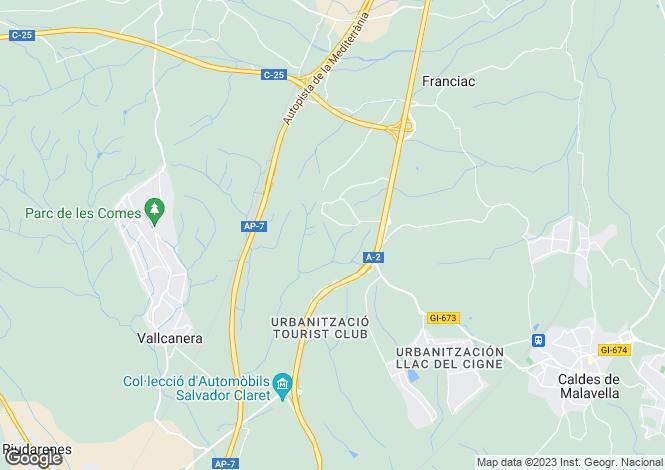 Map for Caldes de Malavella, Girona, Catalonia