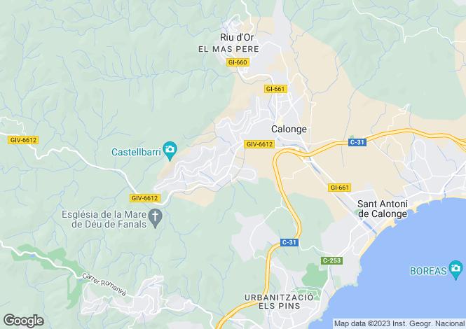 Map for Catalonia, Girona, Calonge