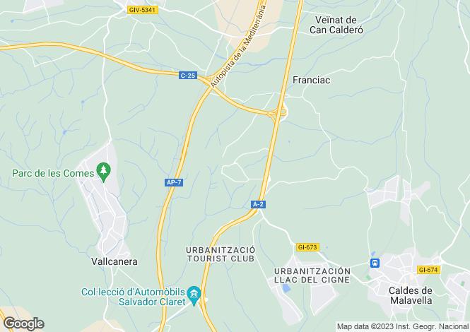 Map for Caldes de Malavella, Girona, Spain