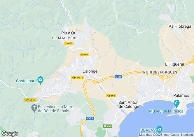 Map for Calonge, Girona, Catalonia