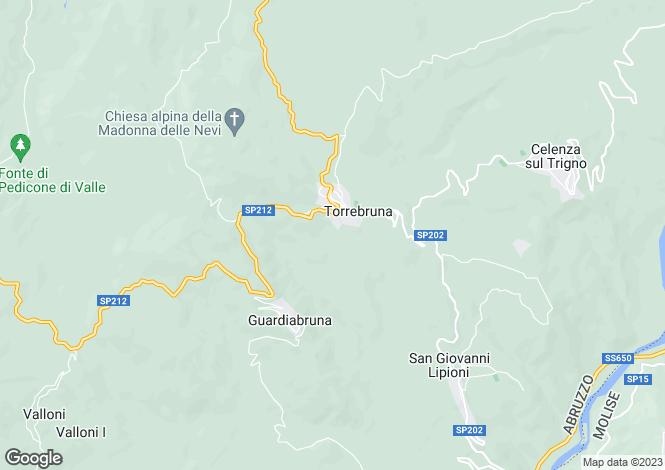 Map for Torrebruna, Chieti, Abruzzo