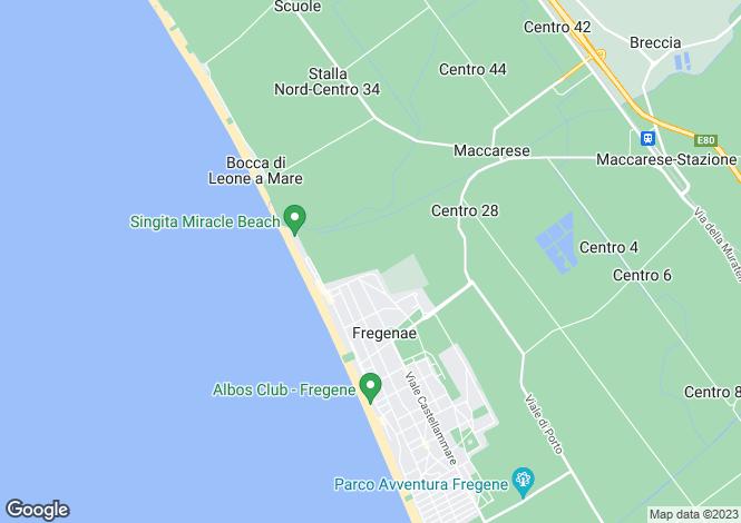 Map for Lazio, Rome, Fregene