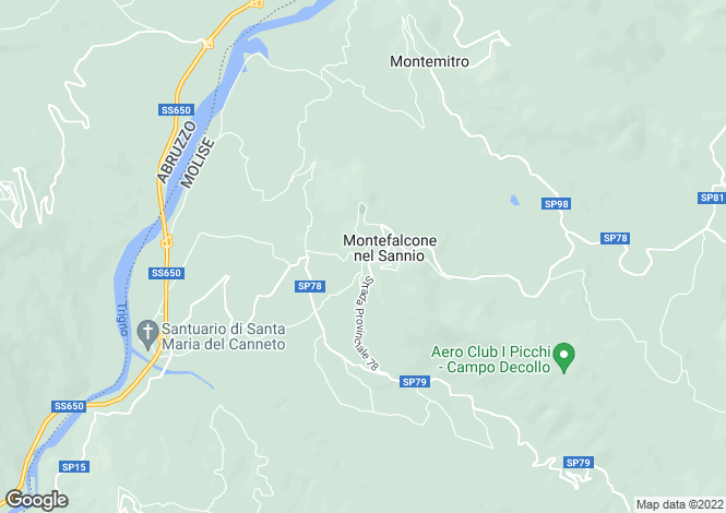 Map for Montefalcone, Campobasso, Molise
