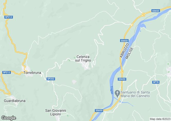 Map for Celenza Sul Trigno, Chieti, Abruzzo