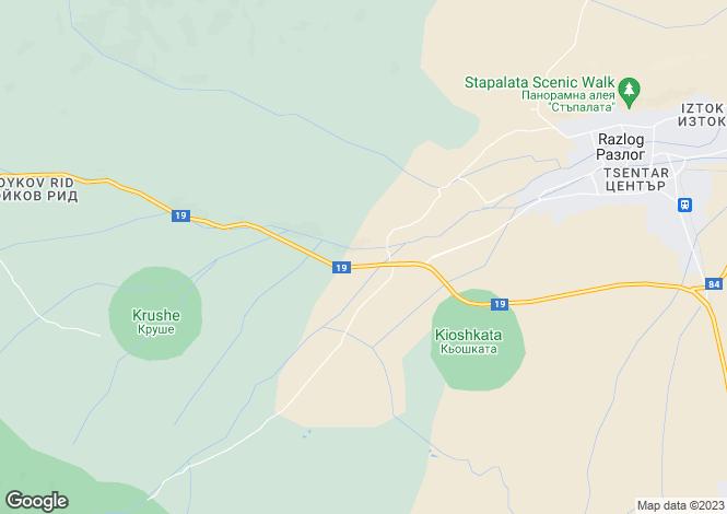 Map for Bansko, Blagoevgrad