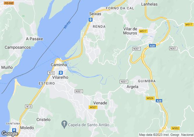Map for Portugal,Viana do Castelo,Caminha
