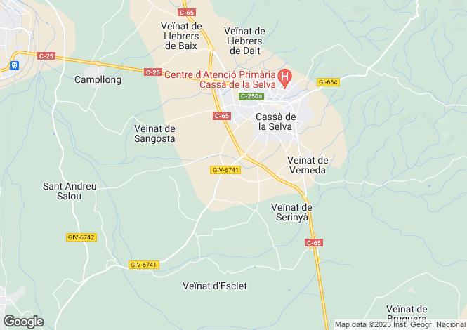 Map for Cassà de la Selva, Girona, ES