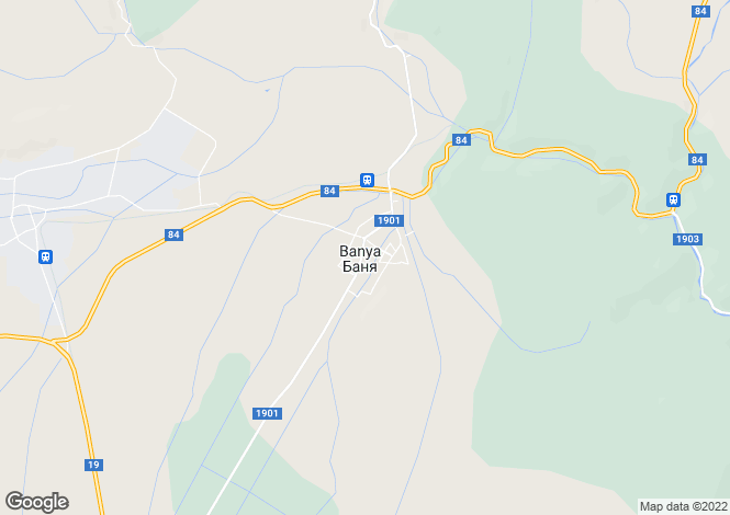 Map for Banya, Blagoevgrad