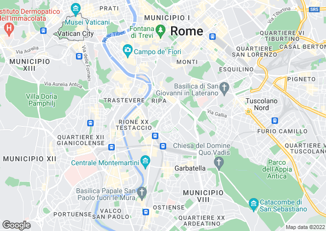 Map for Lazio, Rome, Roma
