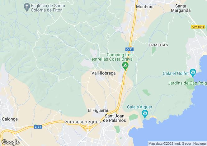 Map for Vall Llobrega, Girona, Catalonia