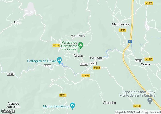 Map for Portugal,Viana do Castelo,Covas