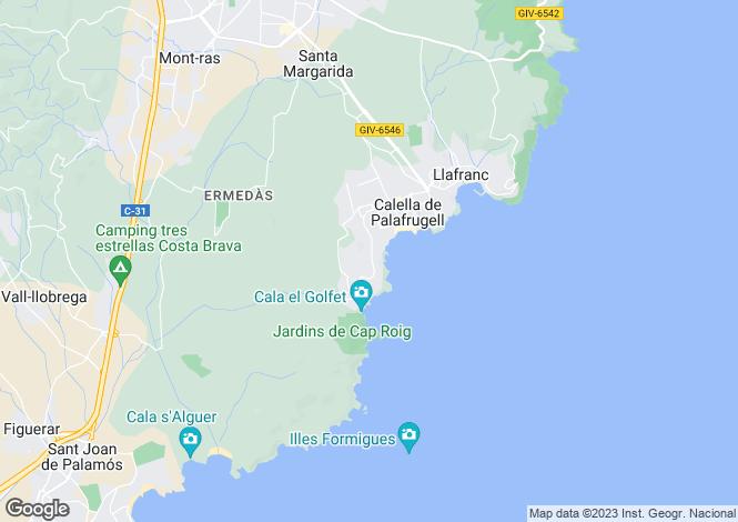 Map for Catalonia, Girona, Calella De Palafrugell