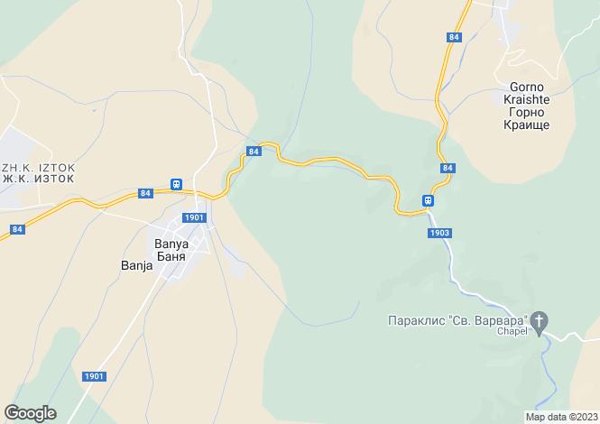 Map for Blagoevgrad, Banya