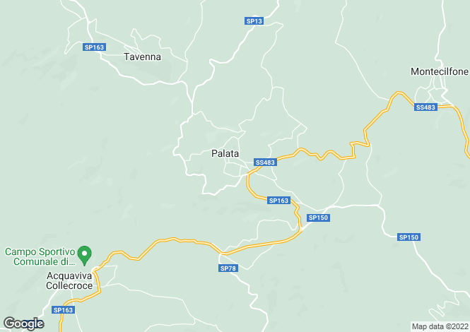 Map for Palata, Campobasso, Molise