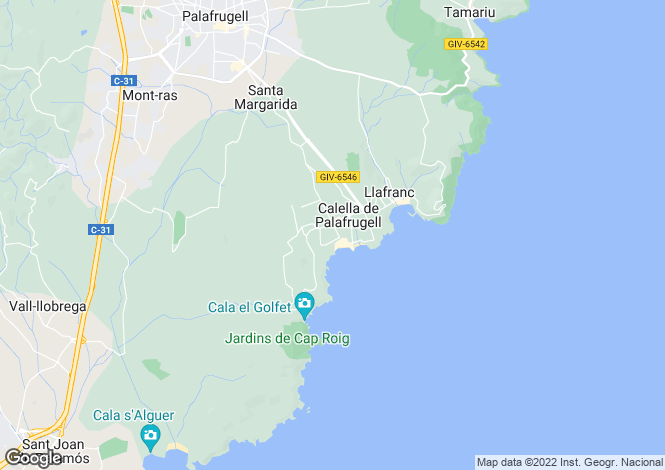 Map for Calella De Palafrugell, Girona, Catalonia