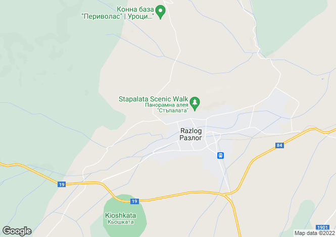 Map for Blagoevgrad, Razlog