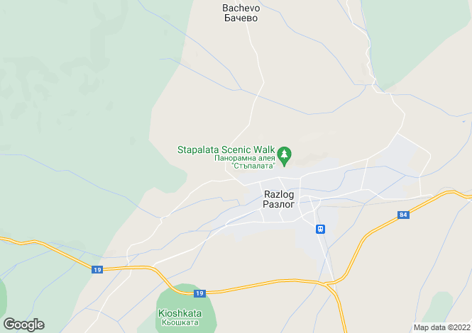 Map for Blagoevgrad, Razlog